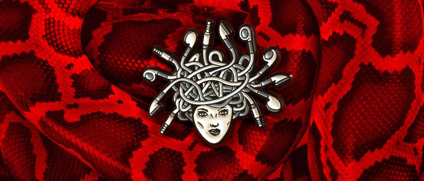 slideshow picture for the medusa pin - pinpongco